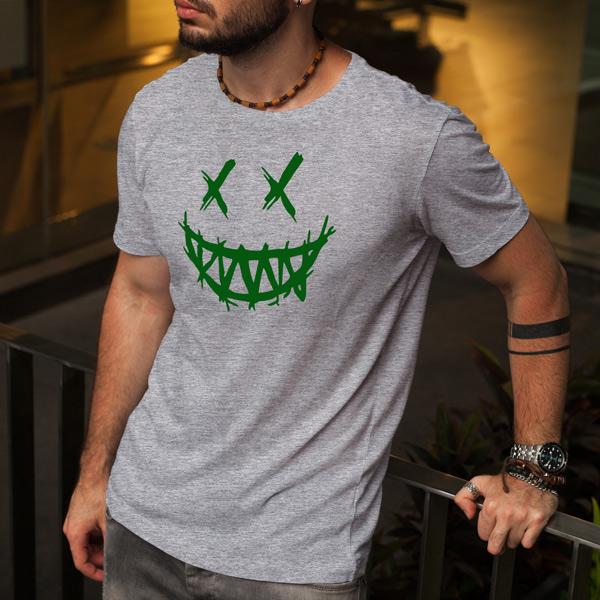 T-shirt Dark Smile cinzenta
