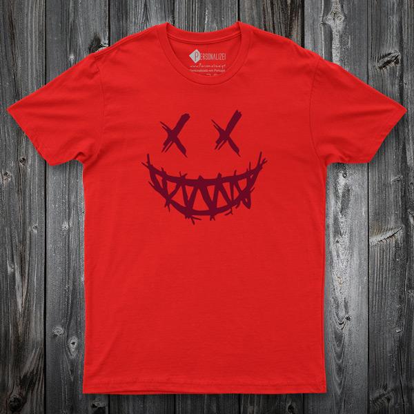 T-shirt Dark Smile vermelha