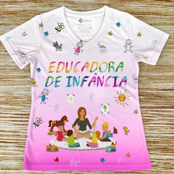 T-shirt profissão/curso Educadora de Infância comprar em portugal rosa