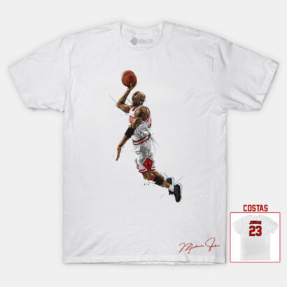 T-shirt Michael Jordan 23 Chicago Bulls NBA Branca comprar em portugal