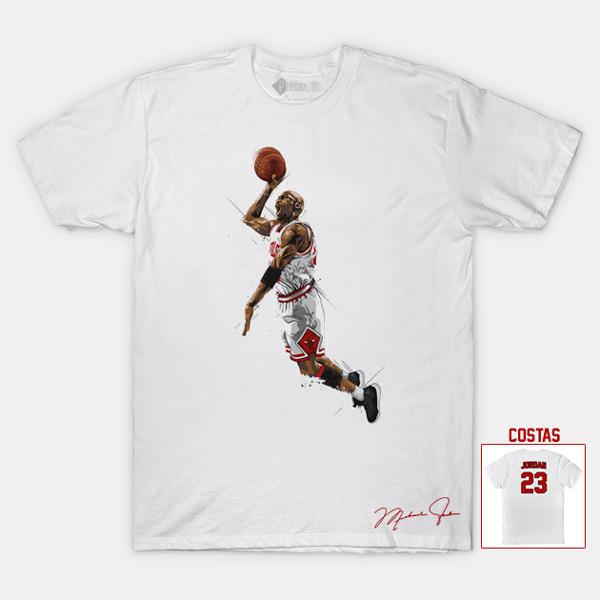 T-shirt Michael Jordan 23 Chicago Bulls NBA Branca comprar em portugal