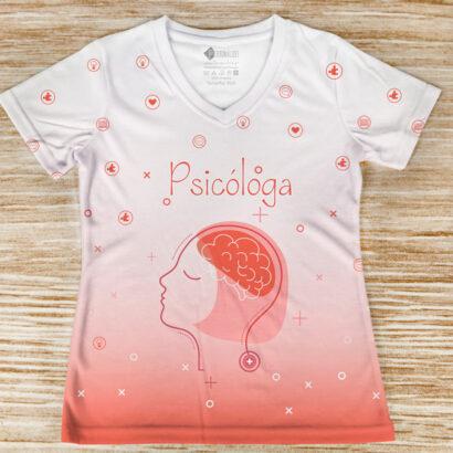 T-shirt profissão/curso Psicóloga comprar para mulheres