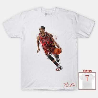 T-shirt Derrick Rose 1 Chicago Bulls NBA comprar em portugal