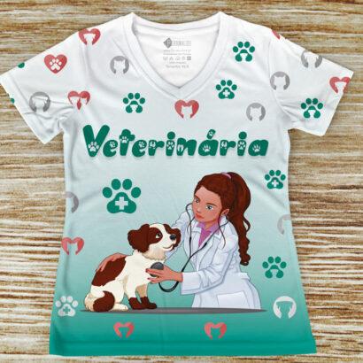 T-shirt profissão/curso Veterinária