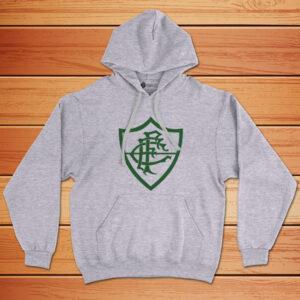 Moletom Fluminense Sweatshirt com capuz Unisex cinza