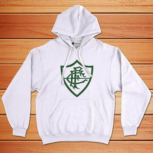 Moletom Fluminense Sweatshirt com capuz Unisex Branco