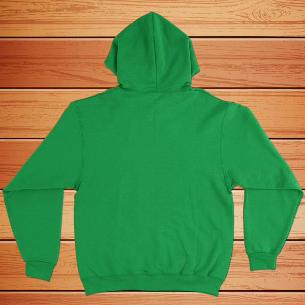 sweatshirt com capuz verde - costas