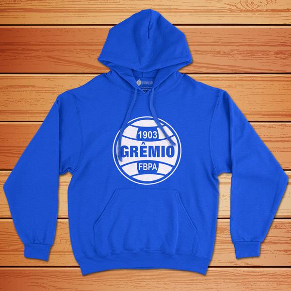Moletom Grêmio Sweatshirt com capuz Unisex azul