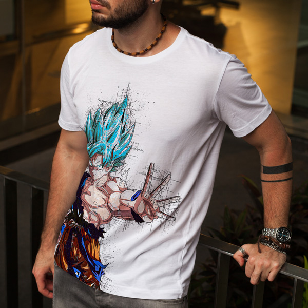 T-shirt Dragon Ball Super Saiyajin Blue Adulto/Criança