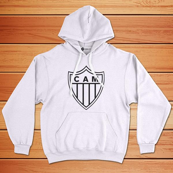Moletom Atlético Mineiro Sweatshirt com capuz Unisex branco