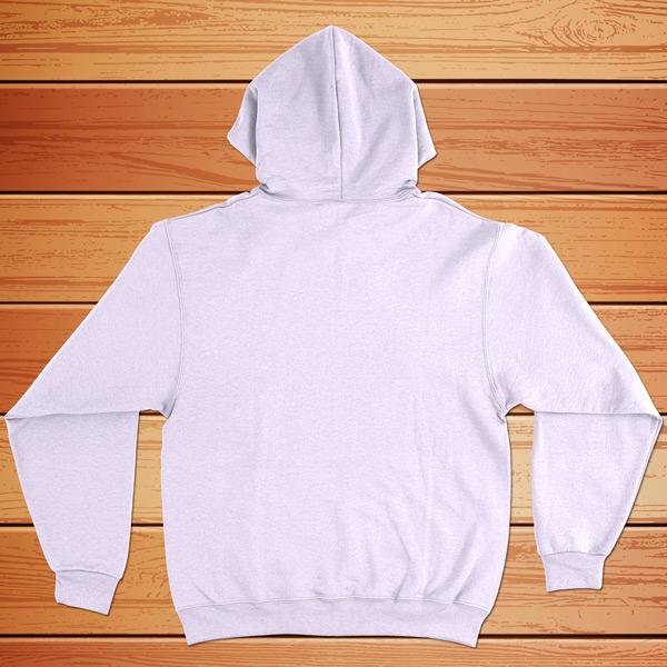 Swetshirt com capuz branco - costas
