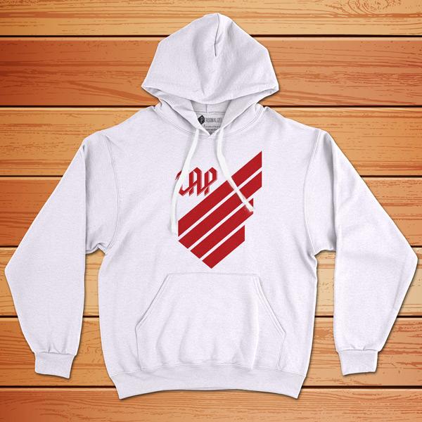 Moletom Athletico Paranaense Sweatshirt com capuz Unisex branco