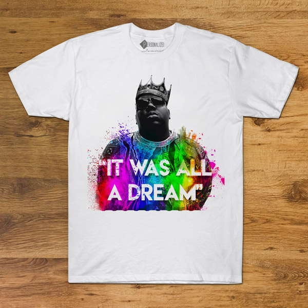 T-shirt The Notorious B.I.G. Branca Unisex comprar em portugal