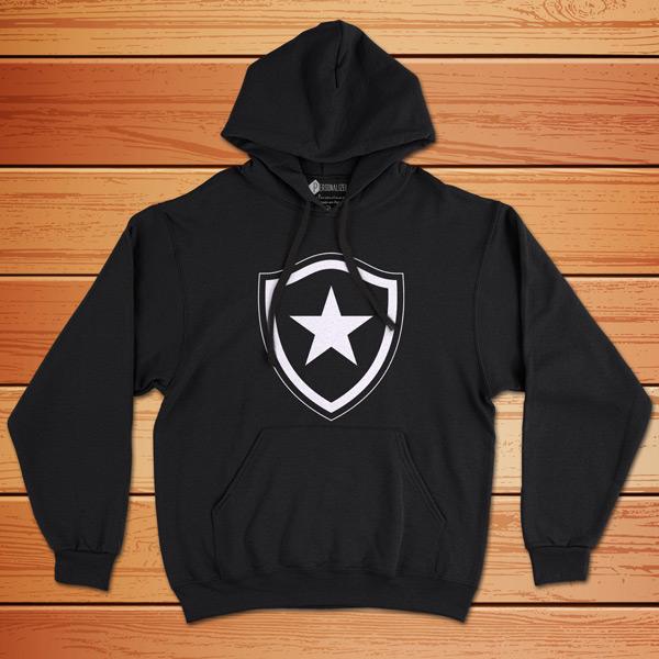 Moletom Botafogo Sweatshirt com capuz Unisex moletom preto com capuz