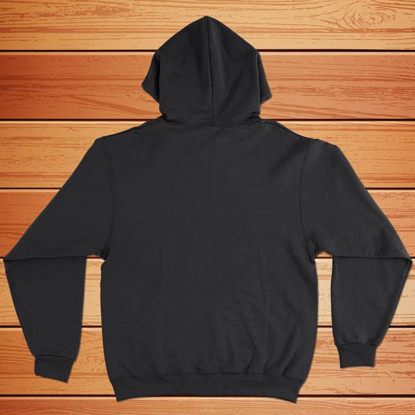 Sweatshirt com capuz preto - costas