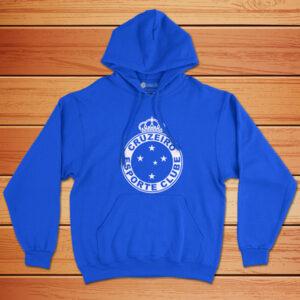 Moletom Cruzeiro Sweatshirt com capuz Unisex azul preço