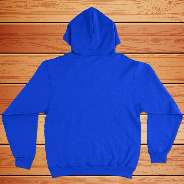 Sweatshirt com capuz azul - costas