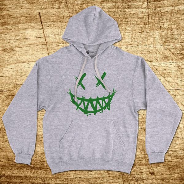 Dark Smile Sweatshirt com capuz streetwear