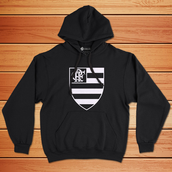 Moletom Flamengo Sweatshirt com capuz Unisex preto