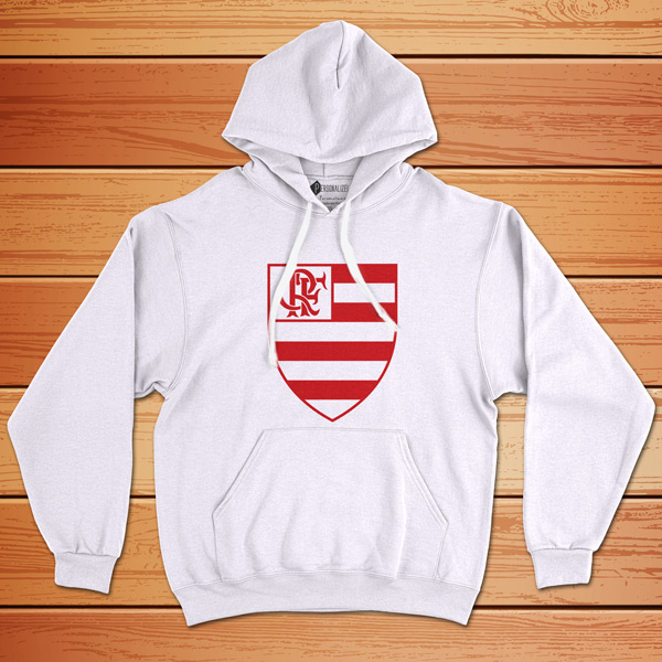 Moletom Flamengo Sweatshirt com capuz Unisex branco