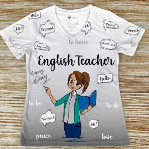 T-shirt profissão/curso Professora de Inglês