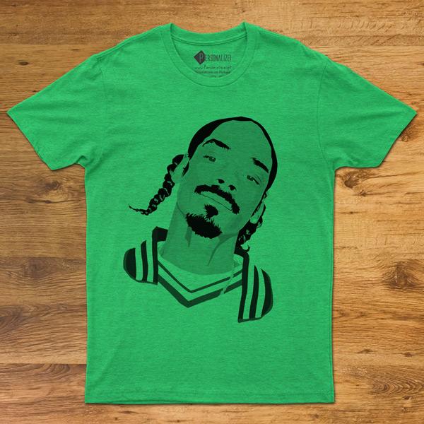 T-shirt Snoop Dogg Unisex várias cores verde