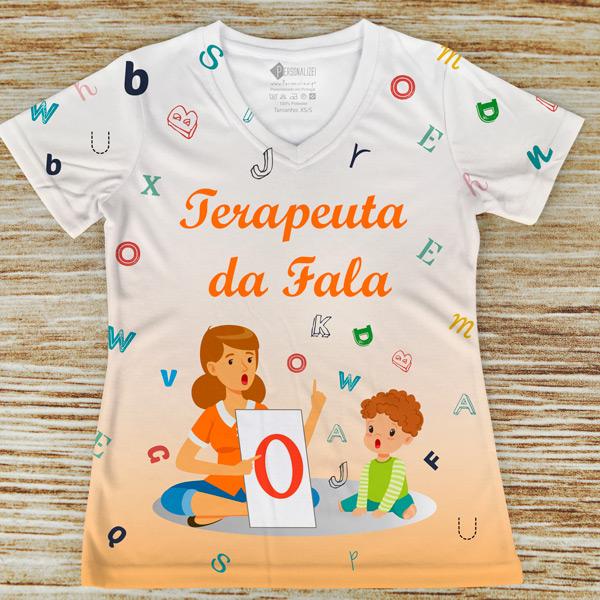 T-shirt profissão/curso Terapeuta da Fala laranja