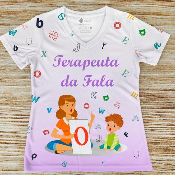 T-shirt profissão/curso Terapeuta da Fala lilás