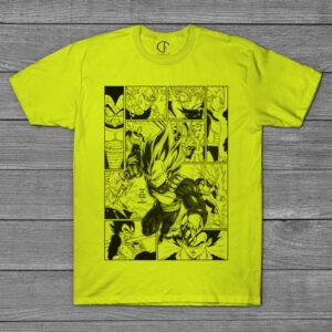 T-shirt Vegeta Dragon Ball Z página mangá comprar em portugal