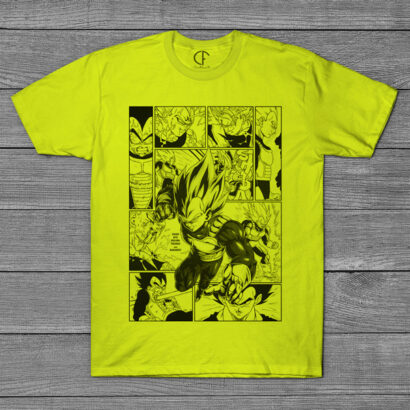 T-shirt Vegeta Dragon Ball Z página mangá comprar em portugal