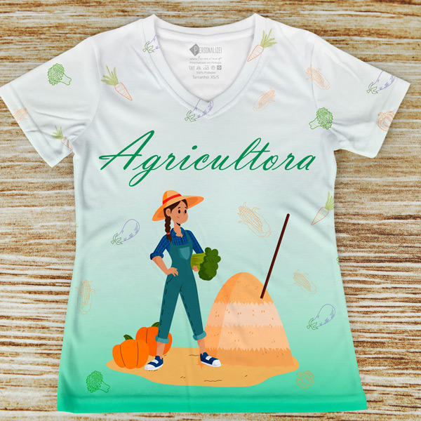 T-shirt profissão/curso Agricultora comprar em portugal