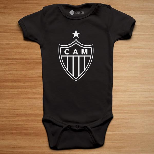 T-shirt/Body Atlético Mineiro para bebé e criança body preto