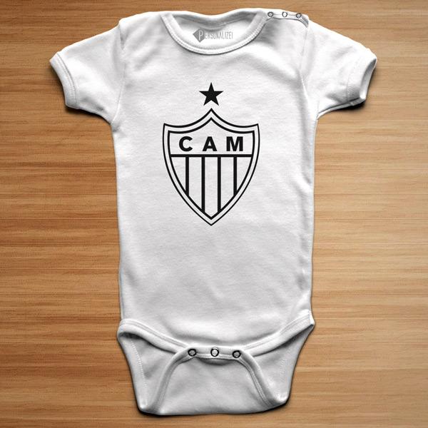 T-shirt/Body Atlético Mineiro para bebé e criança body branco
