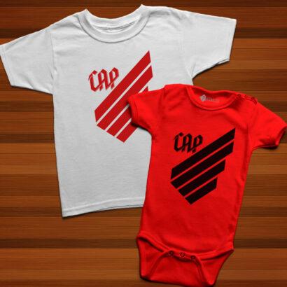 T-shirt/Body Athletico Paranaense para bebé e criança preço baixo