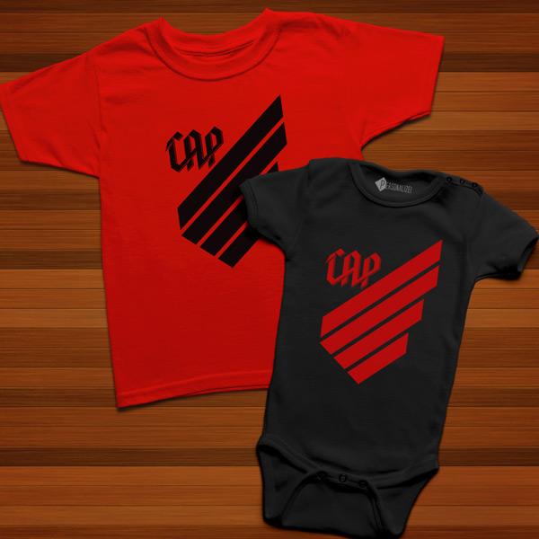 T-shirt/Body Athletico Paranaense para bebé e criança