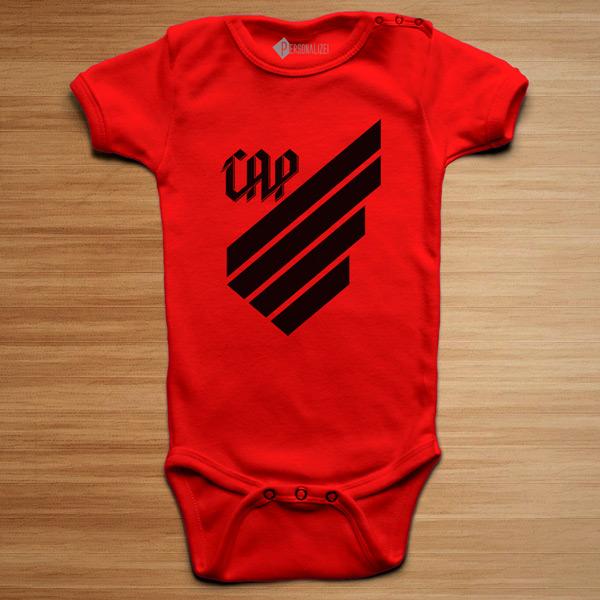 T-shirt/Body Athletico Paranaense para bebé e criança vermelho