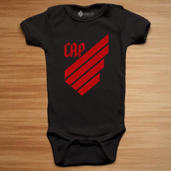 T-shirt/Body Athletico Paranaense para bebé e criança body preto