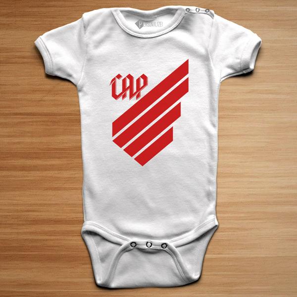 T-shirt/Body Athletico Paranaense para bebé e criança branco