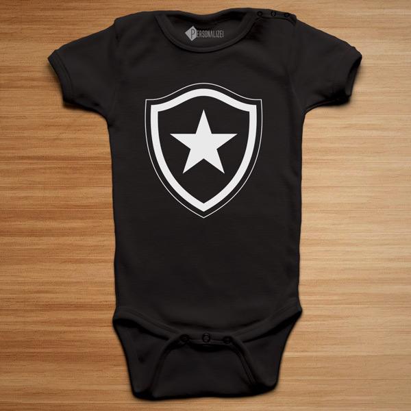 T-shirt/Body Botafogo para bebé e criança preto body