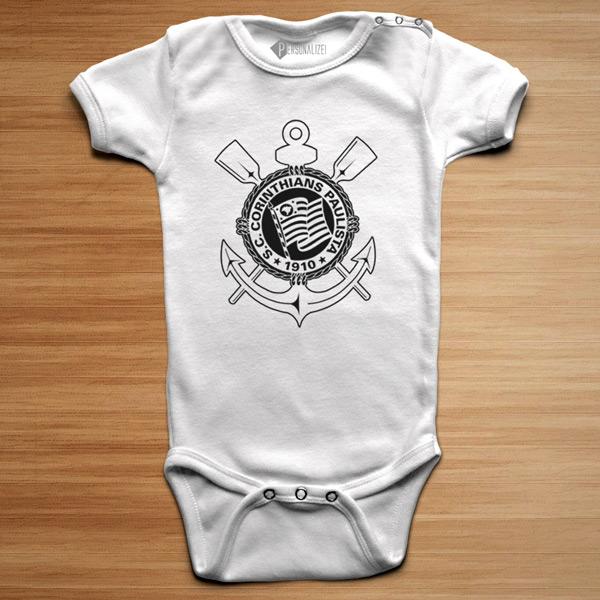T-shirt/Body Corinthians para bebé e criança preço baixo