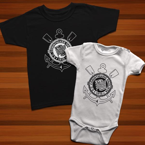 T-shirt/Body Corinthians para bebé e criança comprar