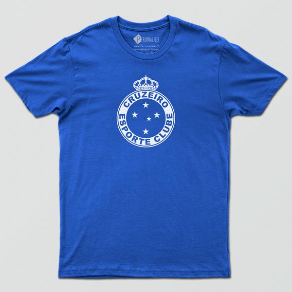 T-shirt/Body Cruzeiro para bebé, criança e adulto azul