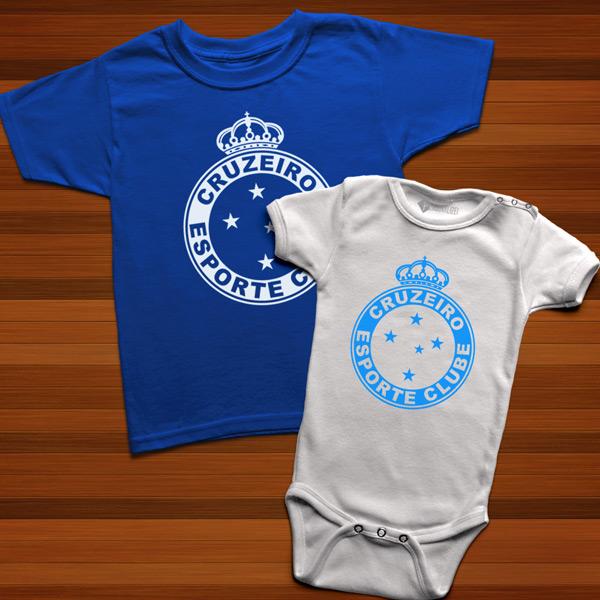 T-shirt/Body Cruzeiro para bebé e criança camiseta