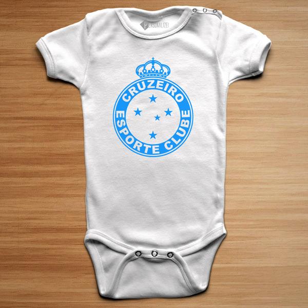 T-shirt/Body Cruzeiro para bebé e criança branco