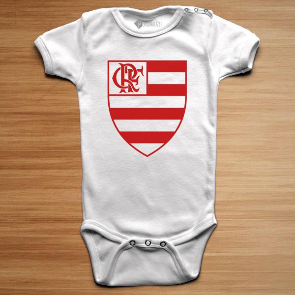 T-shirt/Body Flamengo para bebé e criança branco