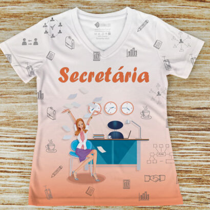 T-shirt profissão/curso Secretária blusinha em Portugal