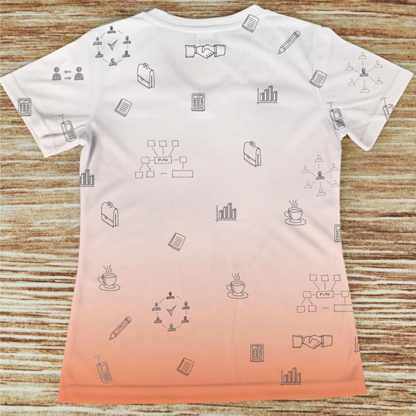 T-shirt profissão/curso Secretária laranja