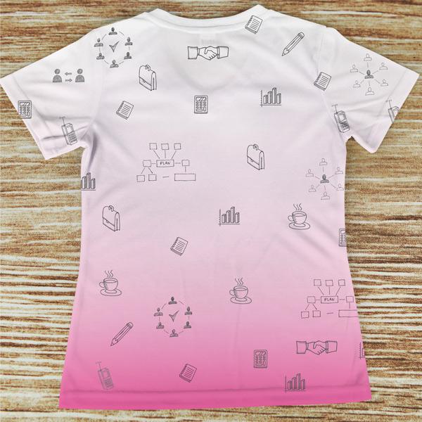 T-shirt profissão/curso Secretária rosa