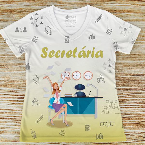 T-shirt profissão/curso Secretária comprar em portugal