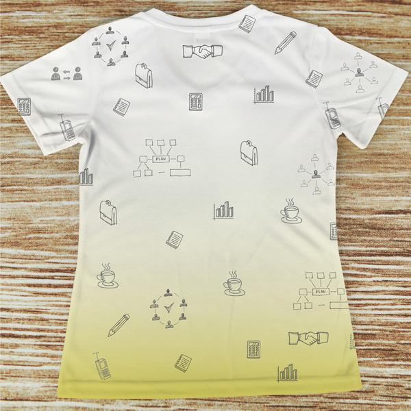 T-shirt profissão/curso Secretária costas